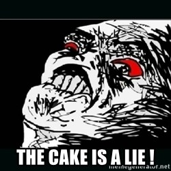 oh crap - THE CAKE IS A LIE !