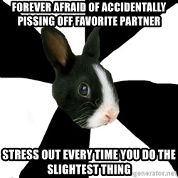 Roleplaying Rabbit - forever afraid of accidentally pissing off favorite partner stress out every time you do the slightest thing