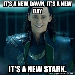 Tinichniy Loki - It's a new dawn, It's a new day It's a new Stark.