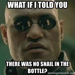 Nikko Morpheus - what if i told you there was no snail in the bottle?