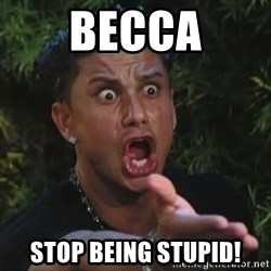 Pauly D - Becca Stop being stupid!