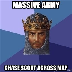 Age Of Empires - massive army chase scout across map