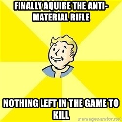 Fallout 3 - Finally aquire the anti-material rifle nothing left in the game to kill