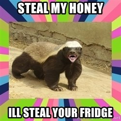 HoneyBadger - sTEAL MY HONEY ILL STEAL YOUR FRIDGE
