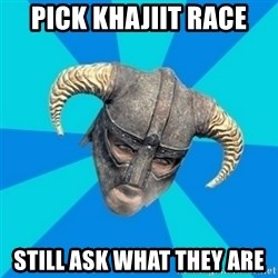 skyrim stan - pick khajiit race still ask what they are