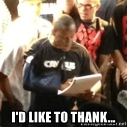 Canibus Notepad  - I'd like to thank...