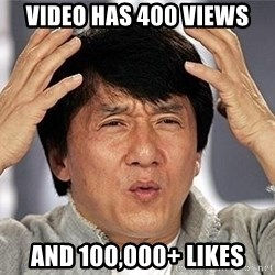 Confused Jackie Chan - video has 400 views and 100,000+ likes