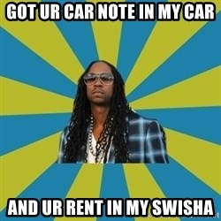 Innocent 2 Chainz - GOT UR CAR NOTE IN MY CAR AND UR RENT IN MY SWISHA