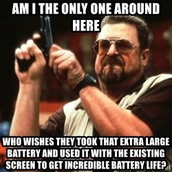 Big Lebowski - Am I the only one around here who wishes they took that extra large battery and used it with the existing screen to get incredible battery life?