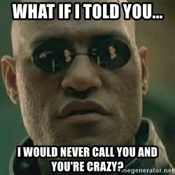 Nikko Morpheus - what if i told you... i would never call you and you're crazy?