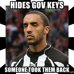 "James ""Terminator"" Perch - hides gov keys  someone took them back"