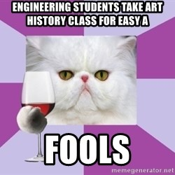 Art History Major Cat - Engineering sTudents take art history class for easy a fools
