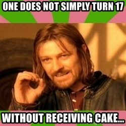 lotr - One does not simply turn 17 without RECEIVING cake...