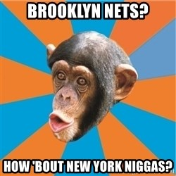 Stupid Monkey - brooklyn Nets? How 'Bout NEW YORK NIGGAS?