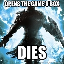Dark Souls Dreamagus - OPENS THE GAME'S BOX DIES