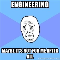 Okay Guy - engineering maybe it's not for me after all