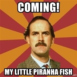 Basil Fawlty - coming! my little piranha fish