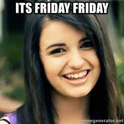 Rebecca Black Fried Egg - its friday friday