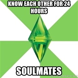 The Sims Anti-Social - Know each other for 24 hours soulmates