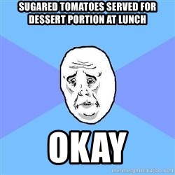 Okay Guy - Sugared Tomatoes served for dessert portion at lunch okay