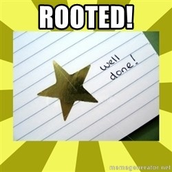 Gold Star - Well Done - RooTED!