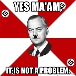 TheGrammarNazi - Yes ma'am,  It is not a problem.