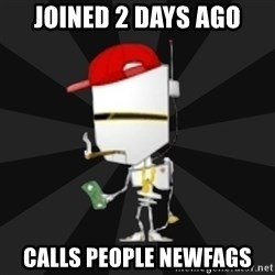 TheBotNet Mascot - joined 2 days ago calls people newfags