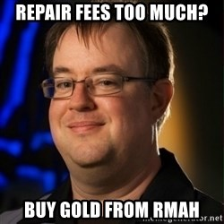 Jay Wilson Diablo 3 - repair fees too much? buy gold from rmah