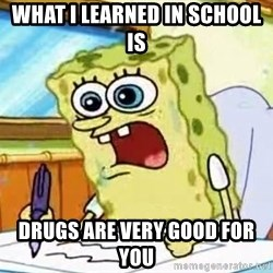 Spongebob What I Learned In Boating School Is - What i learned in school is drugs are very good for you
