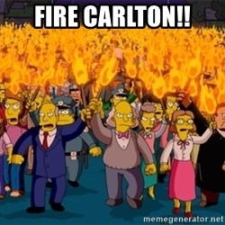 simpsons anger mob - fire carlton!!