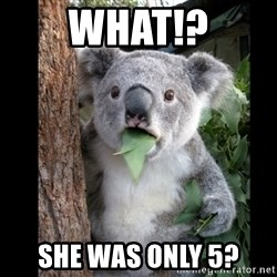 Koala can't believe it - What!? She was only 5?