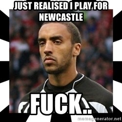 "James ""Terminator"" Perch - Just realised i play for newcastle fuck.."