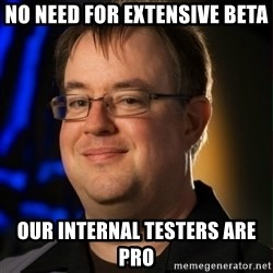Jay Wilson Diablo 3 - no need for extensive beta our internal testers are pro