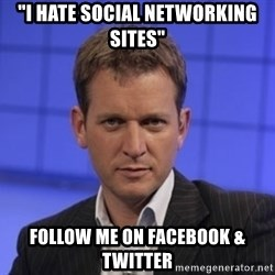 """Jeremy Kyle - """"I Hate social networking sites"""" Follow me on facebook & twitter"""