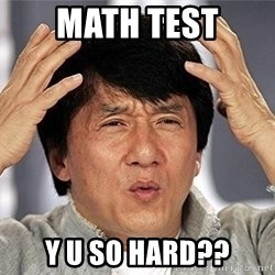 Confused Jackie Chan - math test y u so hard??