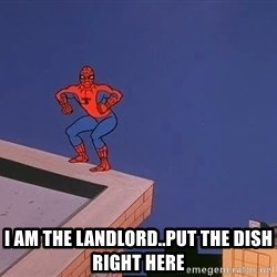 Spiderman12345 - I am the landlord..put the dish right here