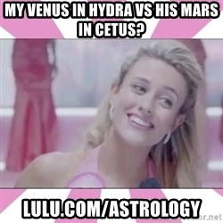 Rossadamente Obvio - my venus in hydra vs his mars in cetus? lulu.com/astrology