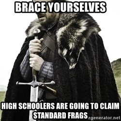 Sean Bean Game Of Thrones - Brace yourselves high schoolers are going to claim standard frags