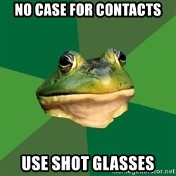 Foul Bachelor Frog - no case for contacts use shot glasses