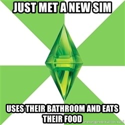The Sims Anti-Social - Just mET A NEW SIM USES THEIR BATHROOM AND EATS THEIR FOOD