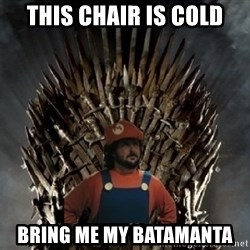 Lou Trono - This chair is cold bring me my batamanta