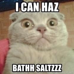 GEEZUS cat - i can haz bathh saltzzz