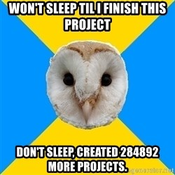 Bipolar Owl - won't sleep til i finish this project don't sleep, created 284892 more projects.