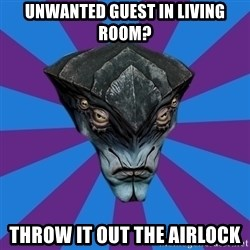 Javik the Prothean - unwanted guest in living room? Throw it out the airlock