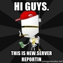 TheBotNet Mascot - HI GUYS. This is new server reportin
