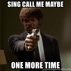 Jules Pulp Fiction - sing call me maybe one more time