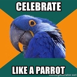 Paranoid Parrot - celebrate like a parrot