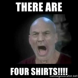 Picard lights - THERE ARE FOUR SHIRTS!!!!