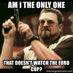 am i the only one around here - Am i the only one  that doesn't watch the euro cup?