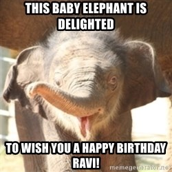 baby elephant - This baby elephant is delighted to wish you a happy birthday Ravi!
